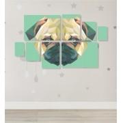 Quadro Placas  Cachorro Triângulo - 8 peças