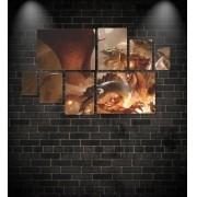 Quadro Placas Caverna do Dragão Tiamat - 8 peças