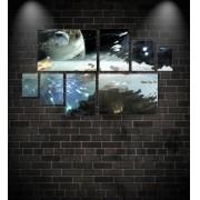 Quadro Placas Guerra Espacial - 8 peças