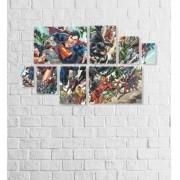 Quadro Placas Heróis - 8 peças