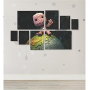 Quadro Placas Little Big Planet - 8 peças