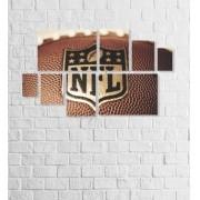 Quadro Placas NFL - 8 peças