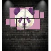 Quadro Placas Panda Triângulo - 8 peças