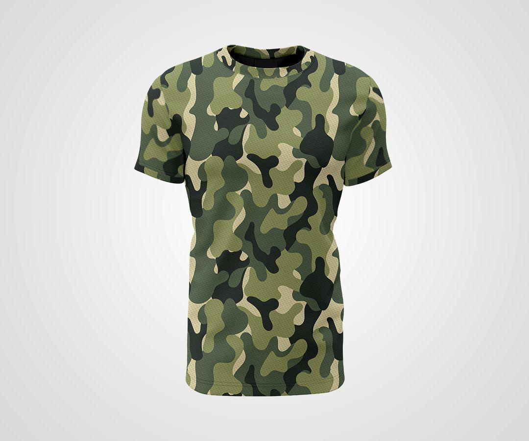 Camiseta Dry - Camuflada Verde
