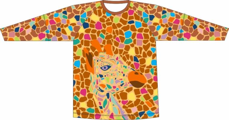 Camiseta Proteção UV Girafa