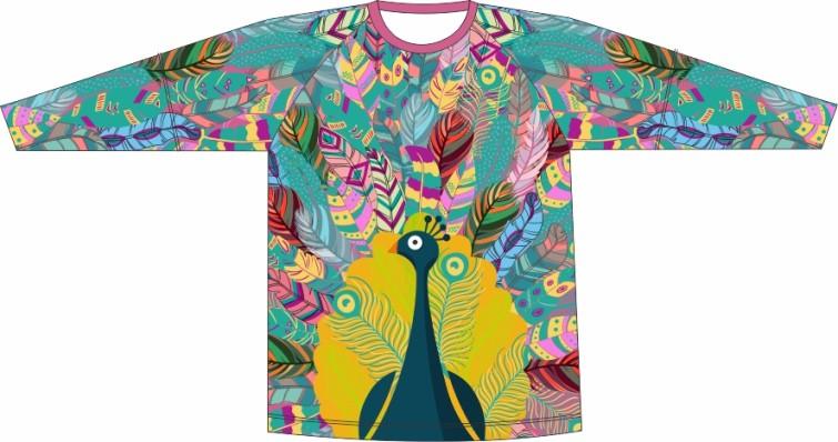Camiseta Proteção UV Pavão