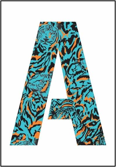 Placa Animal Print