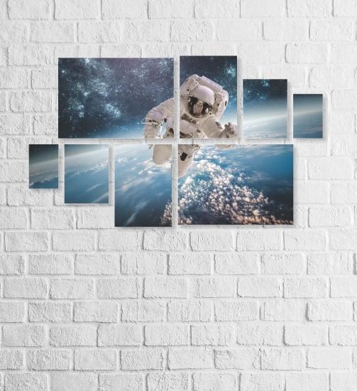 Quadro Placas Astronauta - 8 peças