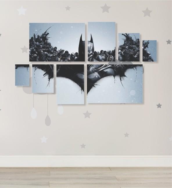 Quadro Placas Batman - 8 peças