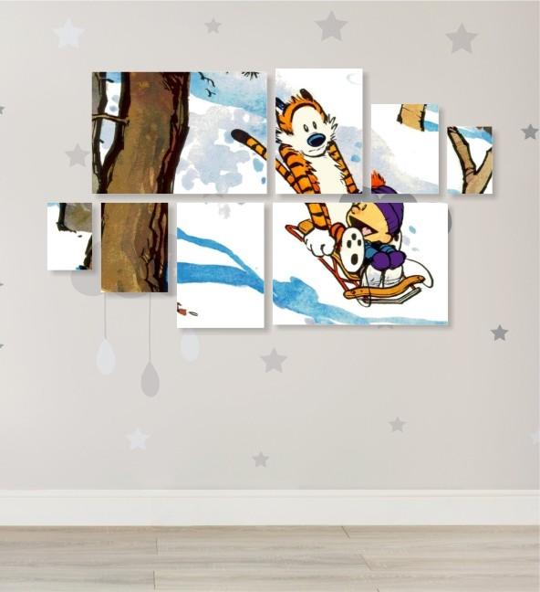 Quadro Placas Calvin 2 - 8 peças