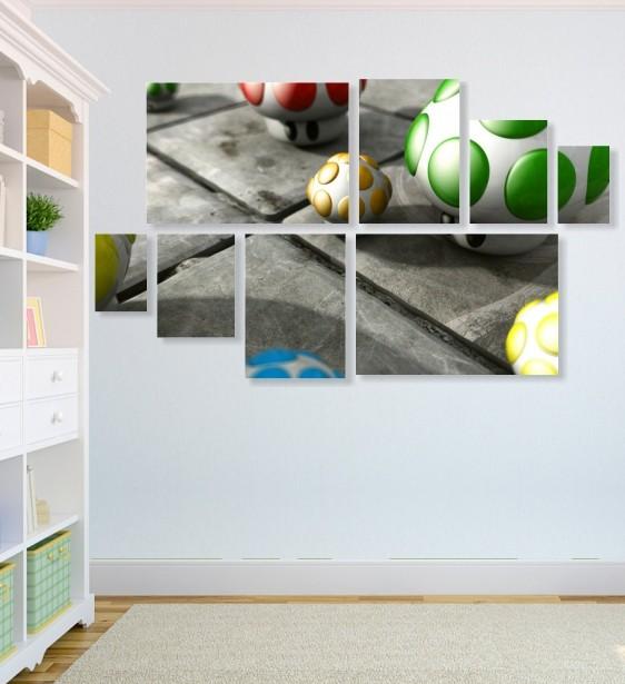 Quadro Placas Cogumelos - 8 peças
