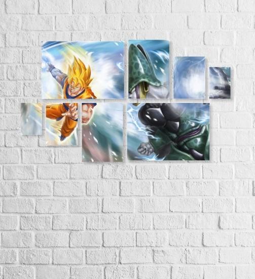 Quadro Placas Dragon Ball - 8 peças