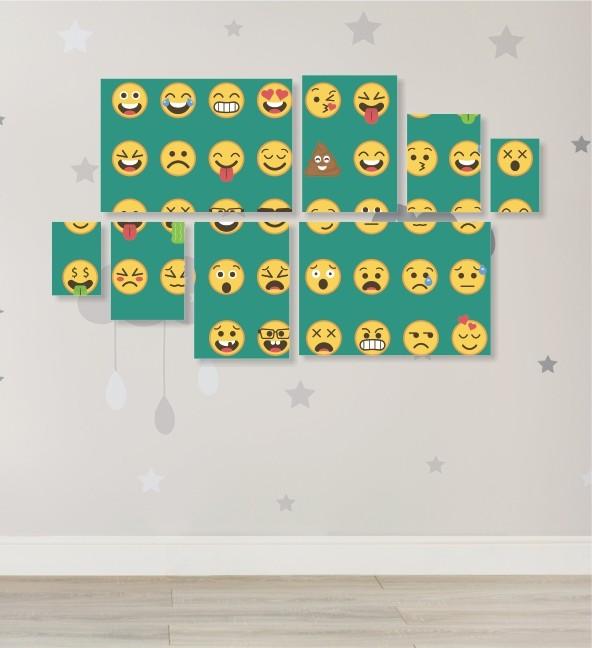 Quadro Placas Emoji - 8 peças