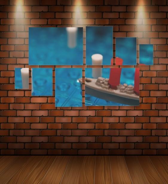 Quadro Placas Jogo Batalha Naval - 8 peças