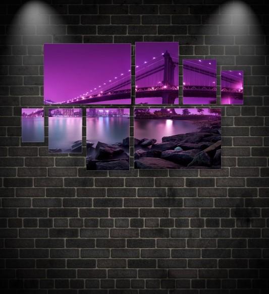 Quadro Placas Ponte - 8 peças