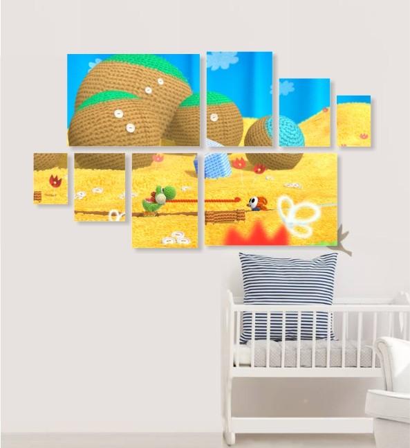 Quadro Placas YOSHI - 8 peças