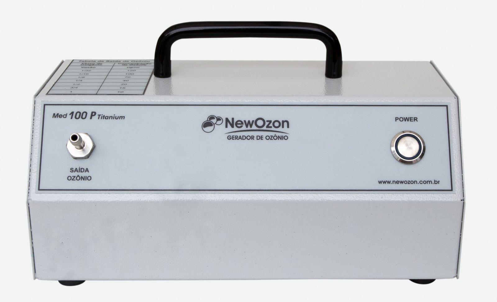 NewOzon Med 100P Titanium Gerador de Ozônio PORTATIL de Uso Medicinal, indicado para uso Médico ou Veterinário