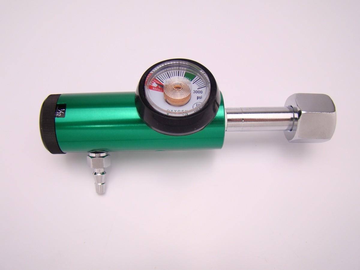 Regulador de Oxigênio Medicinal escala de 1/32 a 4 Litros