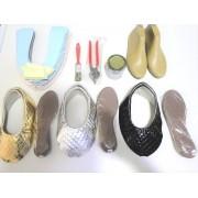 Kit fábrica de sapatilha bico redondo