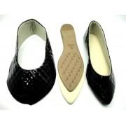 Kit para fabricação de sapatilhas bico fino - Matelassê preto