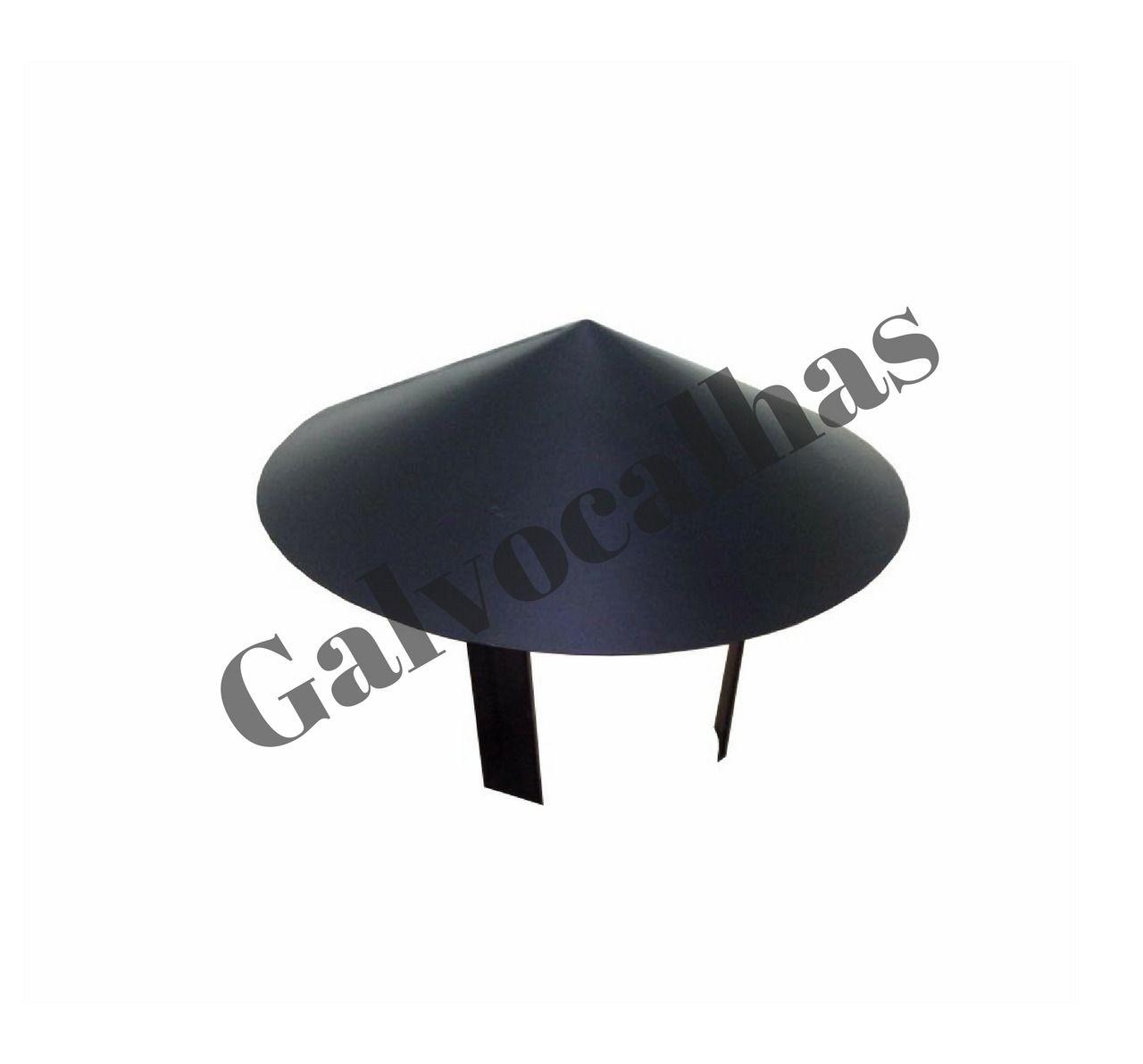 2 metros de duto preto com chapéu para chaminé - Vários diâmetros - Consulte-nos!  - Galvocalhas