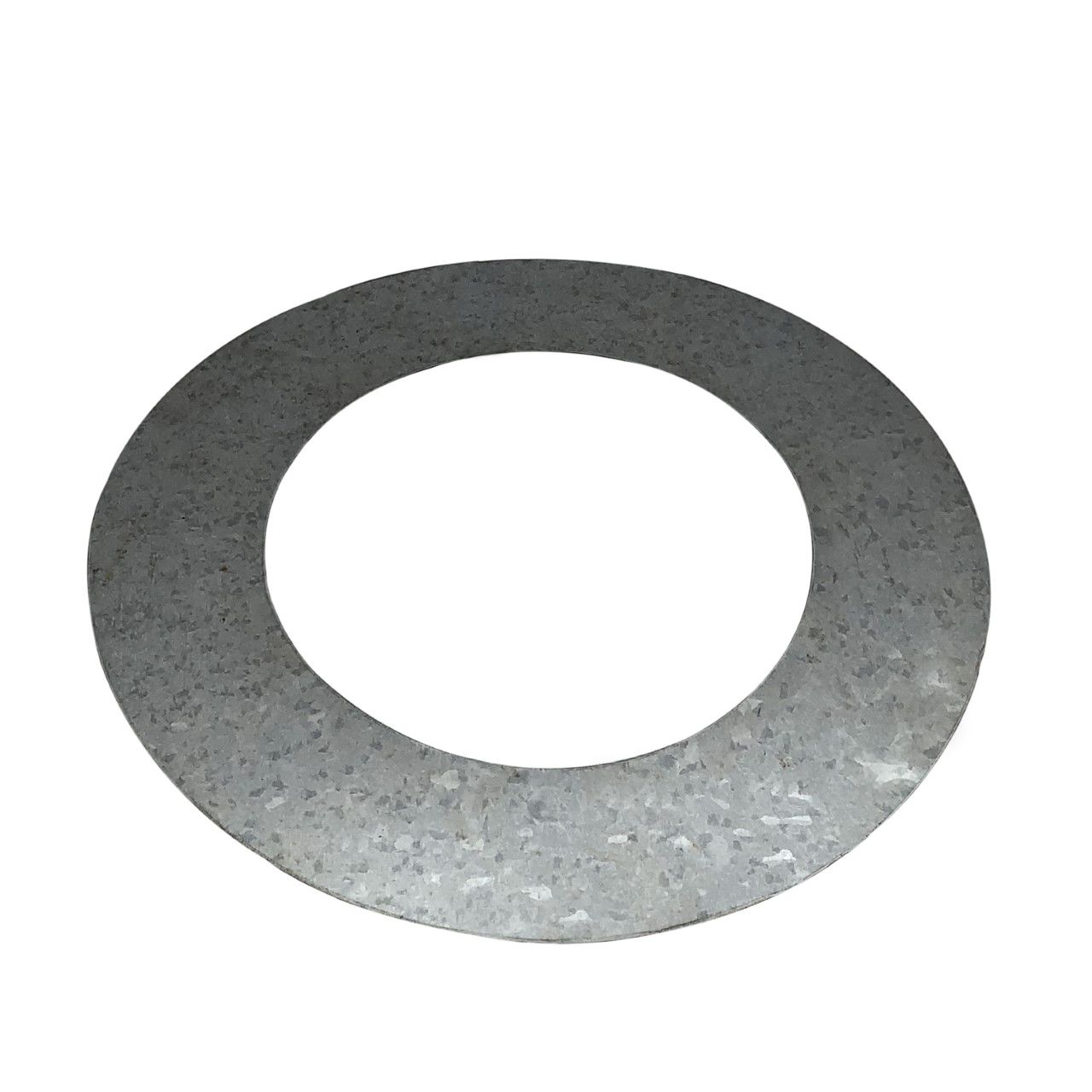 Anel de acabamento galvanizado para laje ou parede para dutos de 100 mm de diâmetro  - Galvocalhas