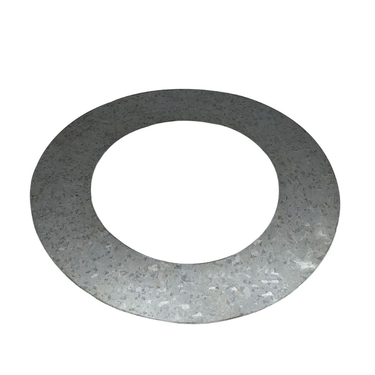 Anel de acabamento galvanizado para laje ou parede para dutos de 180 mm de diâmetro  - Galvocalhas