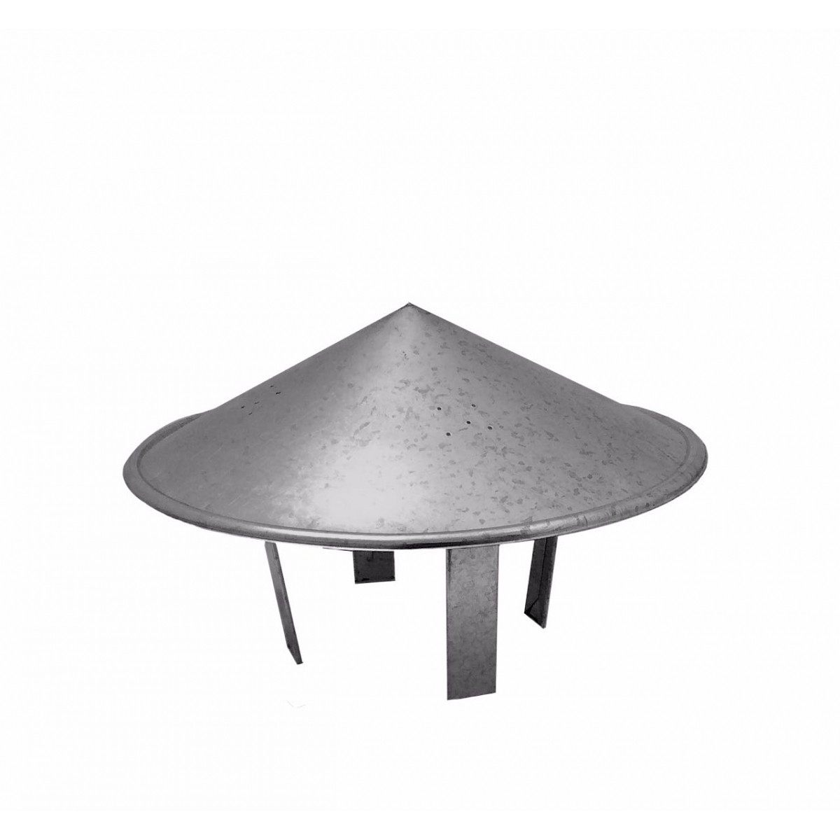 Chapéu chinês galvanizado para dutos de 26 cm de diâmetro para topo de chaminé  - Galvocalhas