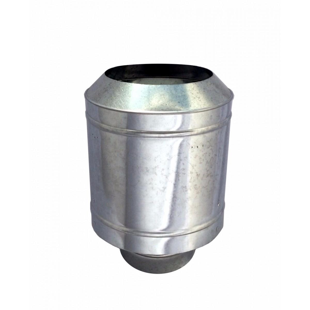 Chapéu galvanizado tipo canhão sputinik para chaminé de 200 mm de diâmetro.  - Galvocalhas