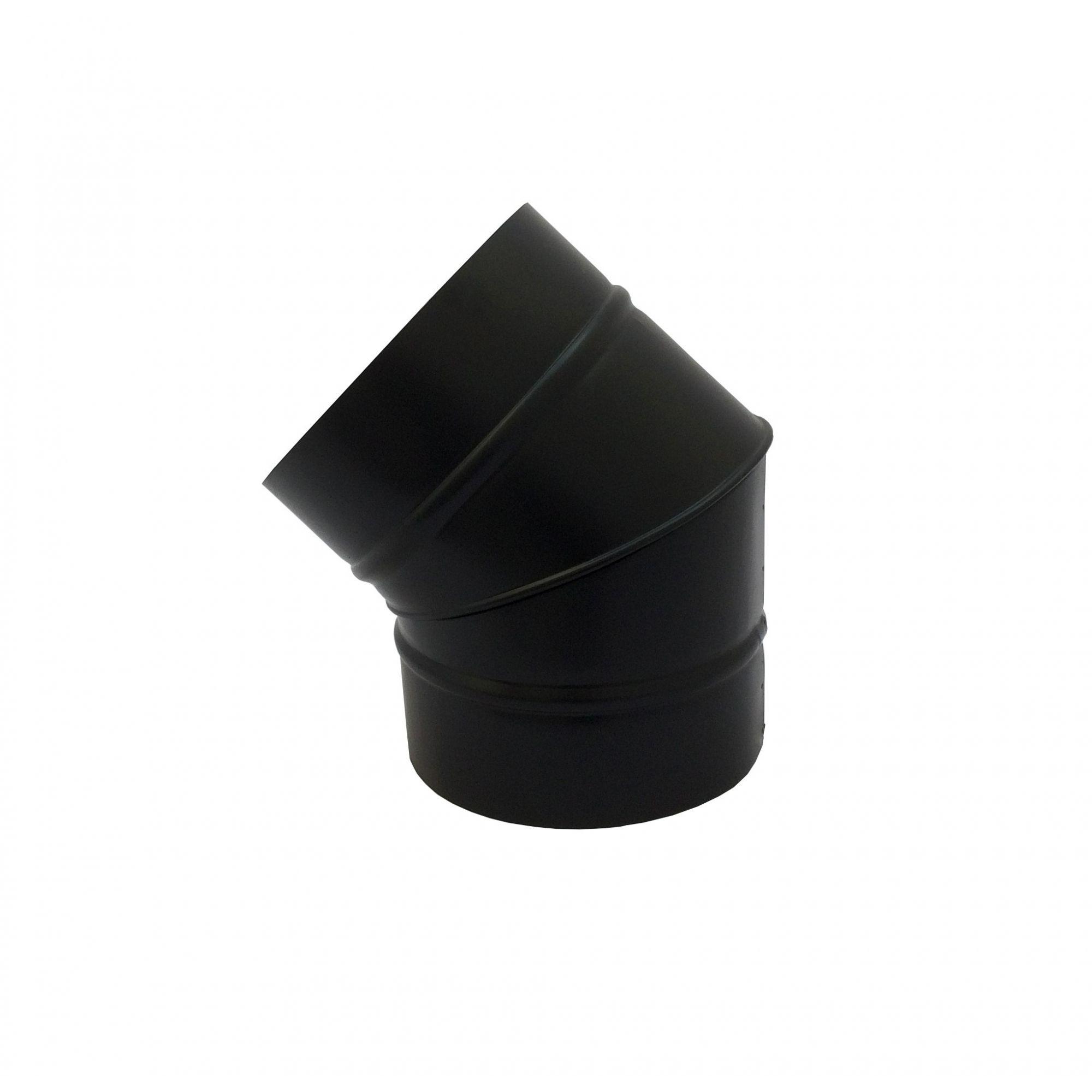 Curva 45° preta de 255 mm de diâmetro  - Galvocalhas
