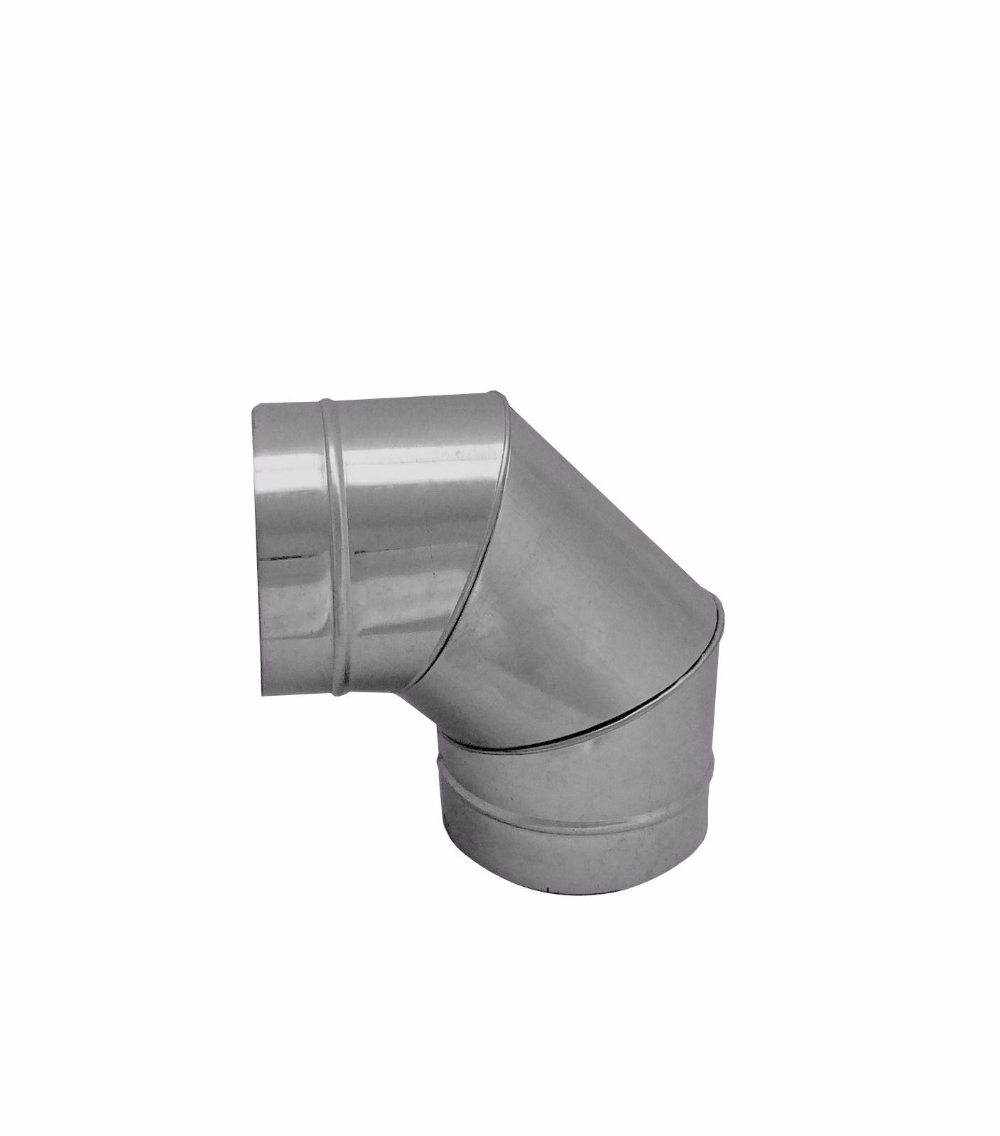Curva / cotovelo galvanizada 90° de 100 mm de diâmetro  - Galvocalhas