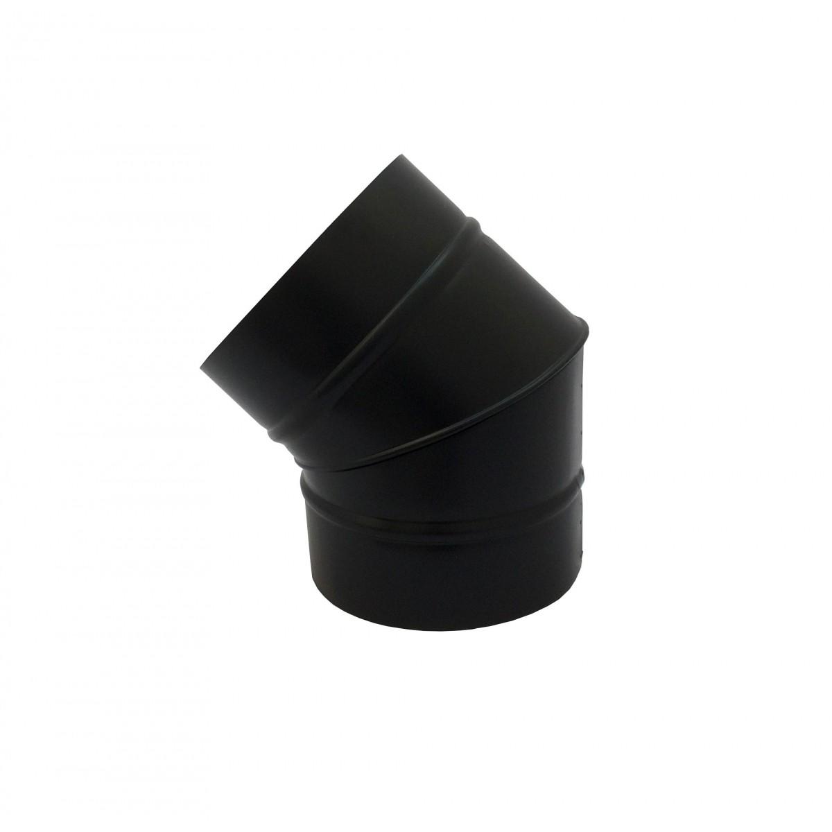 Curva 45° preta de 130 mm de diâmetro  - Galvocalhas