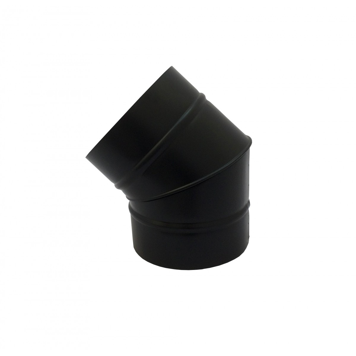 Curva 45° preta de 200 mm de diâmetro  - Galvocalhas