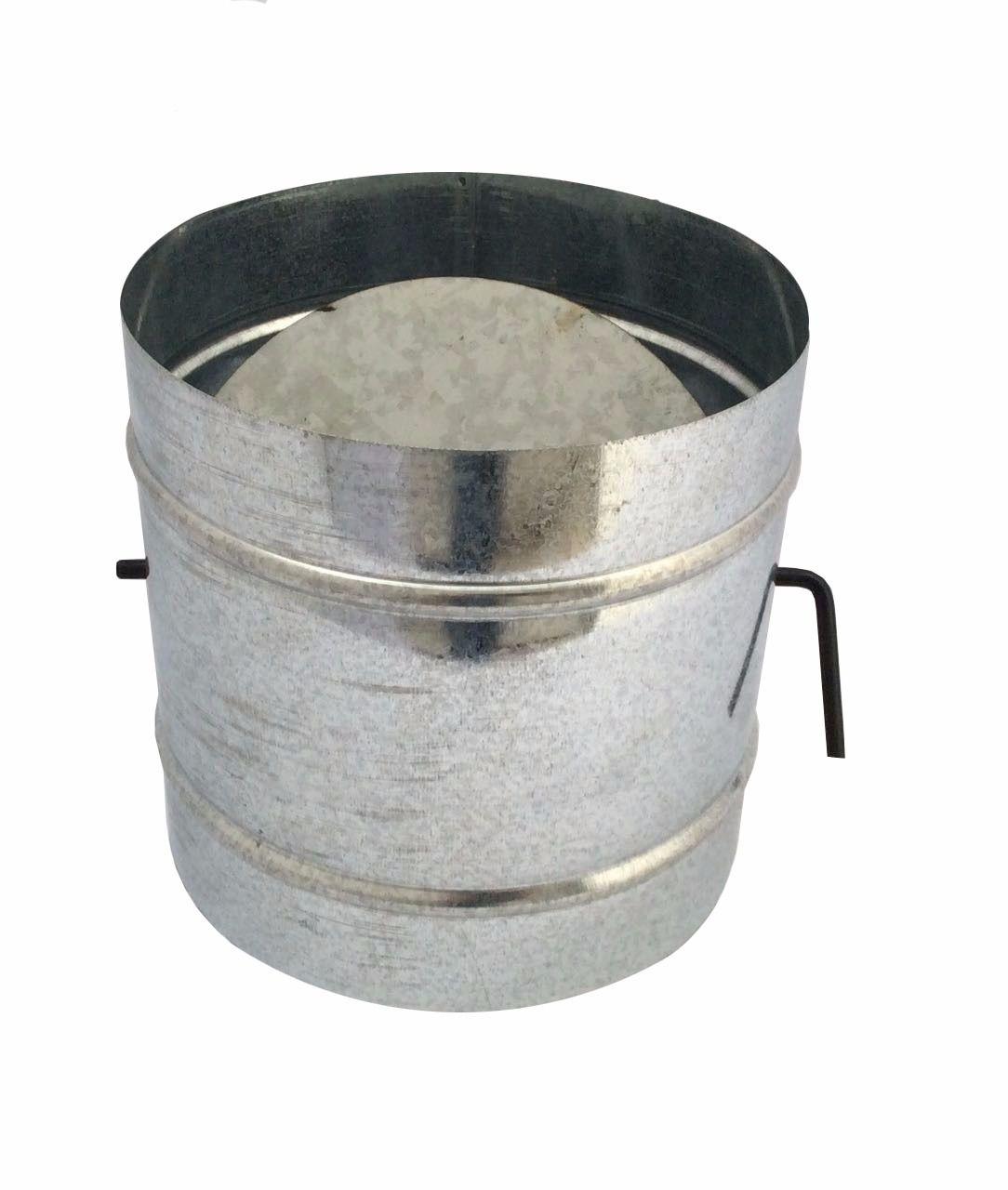 Registro / dumper galvanizado para chaminé de 100 mm de diâmetro  - Galvocalhas
