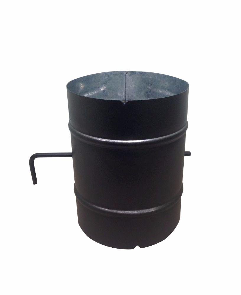 Registro / dumper preto para chaminé de 100 mm de diâmetro  - Galvocalhas