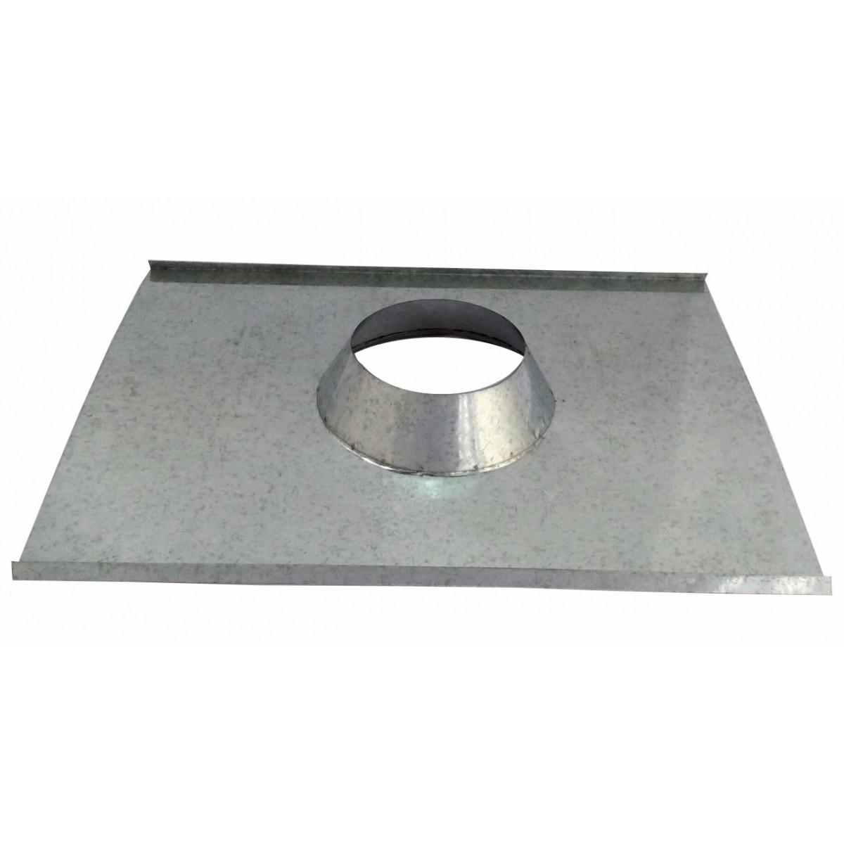 Rufo colarinho de telhado galvanizado para chaminé de 100 mm de diâmetro  - Galvocalhas