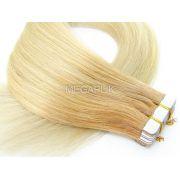 PROMOÇÃO 20% - Mega Hair Fita Adesiva Classic 20 Peças Ombre Loiro #9/10 Cabelo Humano 45cm