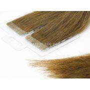 Mega Hair Fita Adesiva Premium 20 peças Castanho Claro #6 Cabelo Humano 35cm, 45cm, 55cm e 65cm