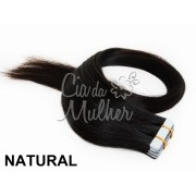 Mega Hair de Fita Adesiva 20pç Classic Cor Natural
