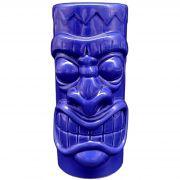 Copo Tiki Mug Grande Pohaku 650ml Azul Ceramica