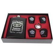 Kit Cantil de Whisky 270 ML e 4 Copos Shot Jack Presente
