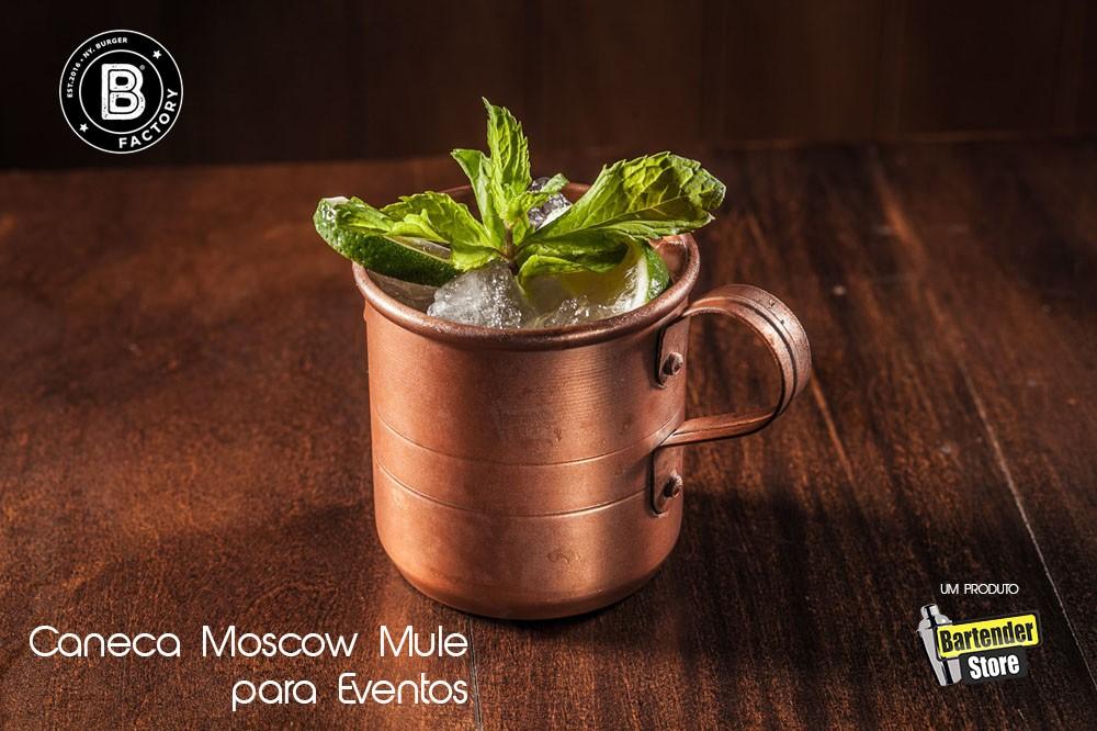 Caneca 400ml Moscow Mule para Eventos  Aluminio Pintado
