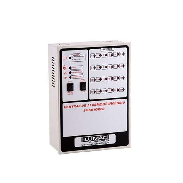 Central de Alarme de Incêndio IPA 24.24 (Sem bateria)