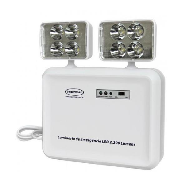Iluminação de Emergência LED 2200 Lumens