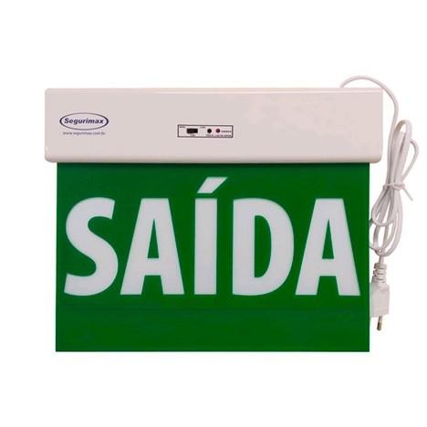 Sinalização saída de emergência Acrílica Standard LED