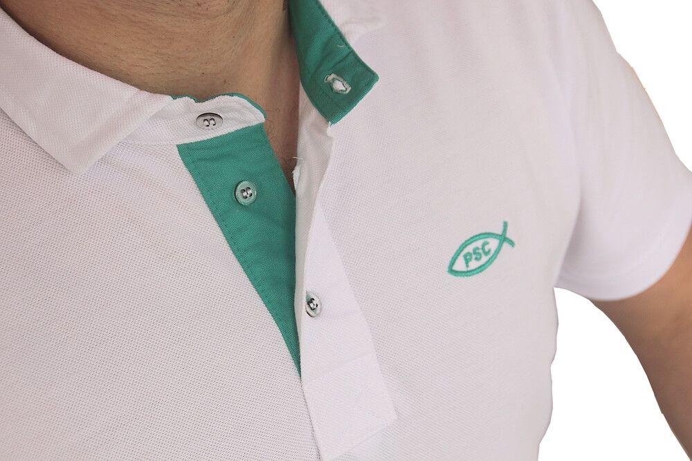 Camiseta Polo Branca PSC