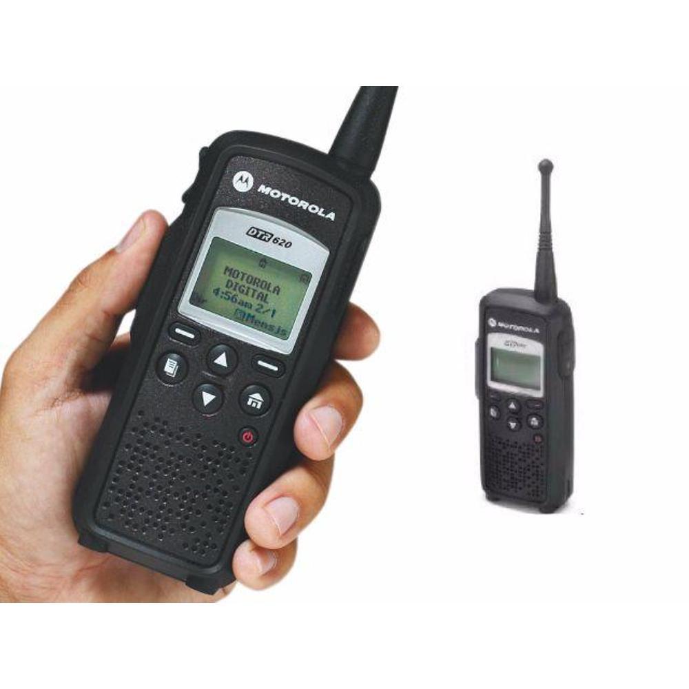 Fone acustico com ptt de lapela e microfone para HT MOTOROLA DTR620 digital