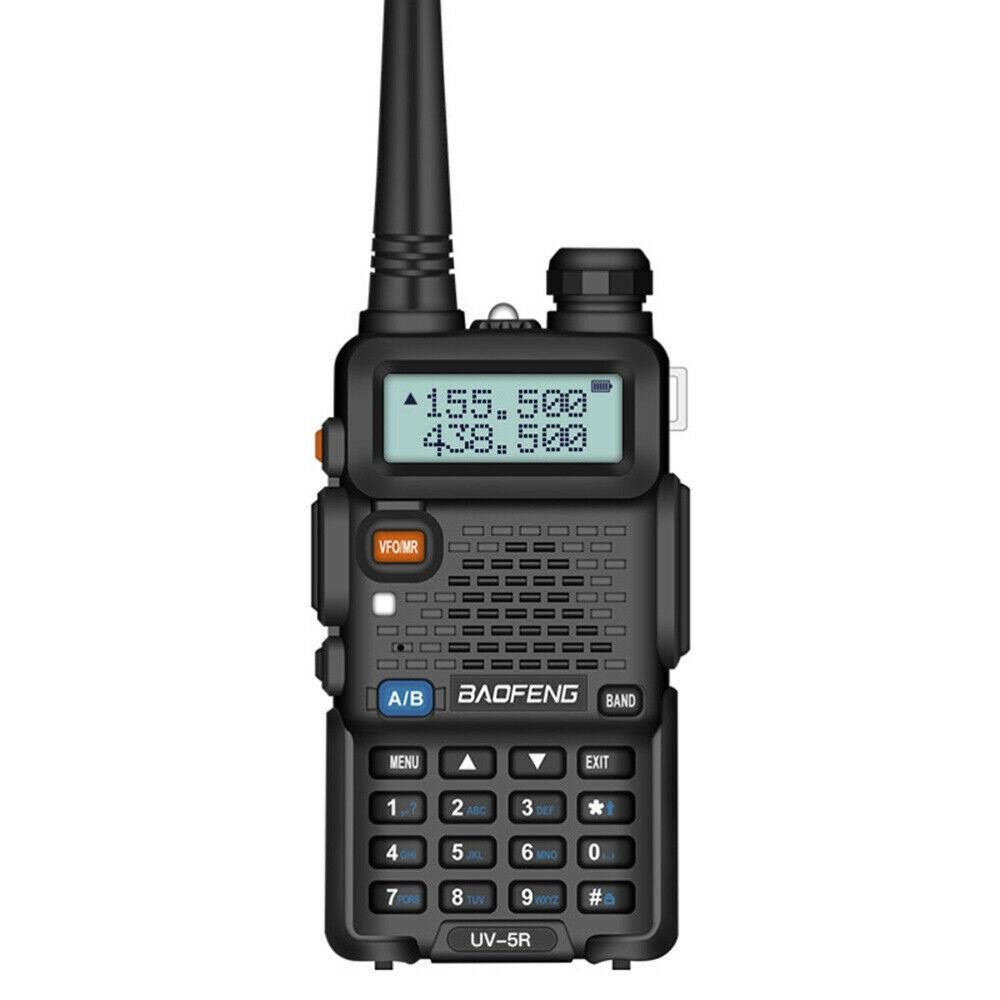 Fone acustico com ptt de lapela e microfone para Walkie Talkie Baofeng