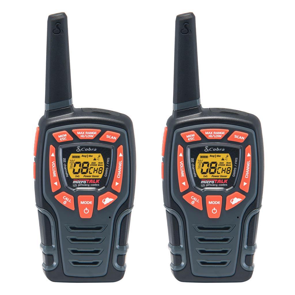 Fone acustico com ptt de lapela e microfone para Walkie Talkie Cobra