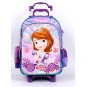 MMochila Escolar  com Rodinhas, Dermiwil, Disney Princesa Sofia.